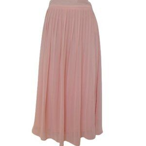 Forever 21 Pleated Pink Chiffon Maxi Skirt- Sz. Sm